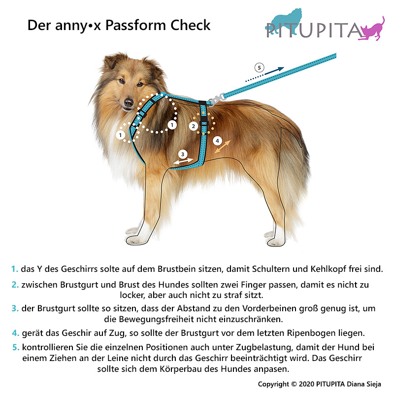 AnnyX Brustgeschirr Fun oliv orange S