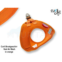 Curli Brustgeschirr Vest Air Mesh orange 2XS