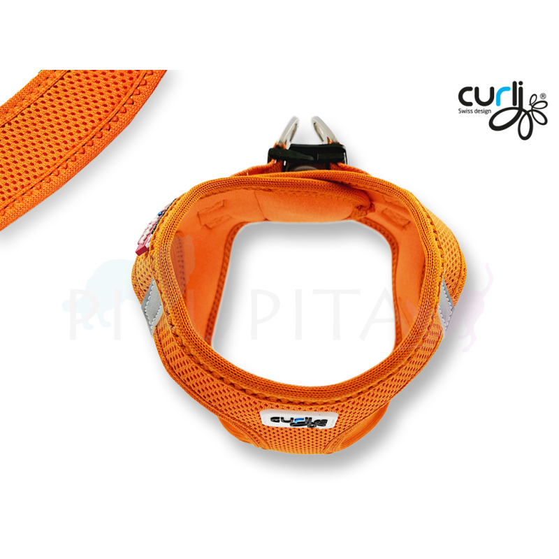 Curli Brustgeschirr Vest Air Mesh orange XL