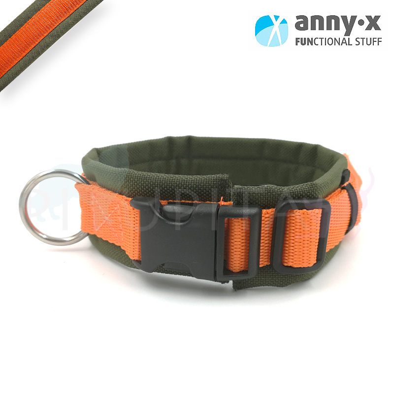 AnnyX Halsband FUN oliv orange
