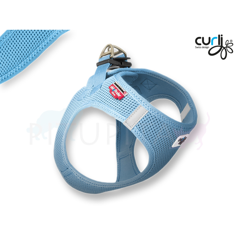 Curli Brustgeschirr Vest Air Mesh skyblue hellblau 3XS