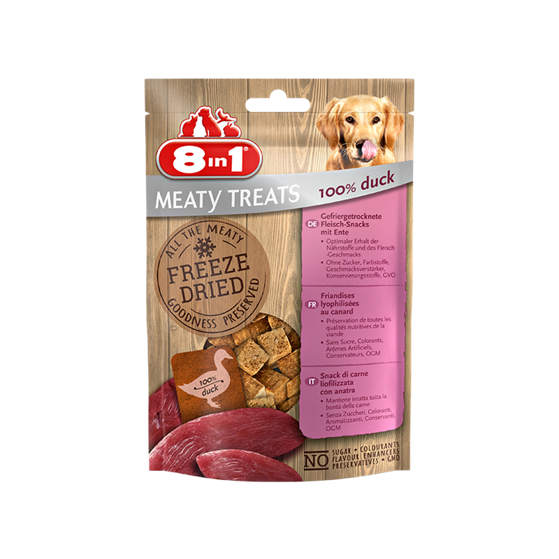 8in1 Mealty Treats Duck Ente 50g