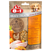 8in1 Mealty Treats Chicken Huhn u. Möhre 50g