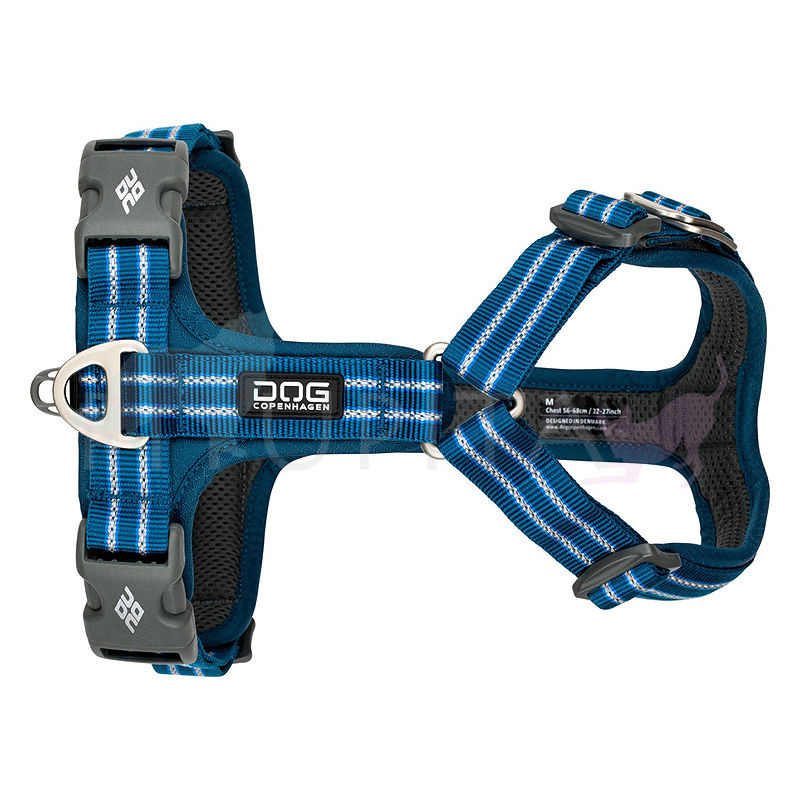 DOG Copenhagen Walk Harness AIR Geschirr schwarz blau ocean blue V2 S