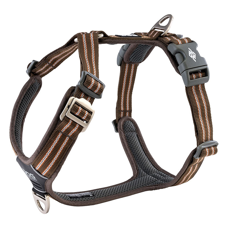 DOG Copenhagen Walk Harness AIR Geschirr schwarz mocca braun V2 M