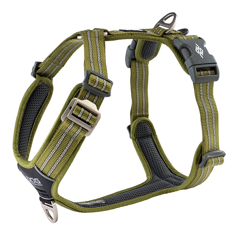 DOG Copenhagen Walk Harness AIR Geschirr grün hunting green V2 XS